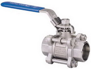 "THREE PIECE BALL VALVE 2011 - Full port, 1/4""~4"" (DN8~DN100). middle"