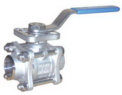 "THREE PIECE BALL VALVE 2012D - Full port, 1/4""~2"" (DN8~DN50). middle"