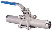 "THREE PIECE BALL VALVE 2012L - Full port, 3/8""~4"" (DN10~DN100). middle"