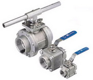 "THREE PIECE BALL VALVE 2013KM - 1/4""~1"" :2000 WOG. middle"