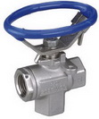 "THREE WAY SCREWED END BALL VALVE 2058S - Reduced port, 1/4""~3"" (DN8~DN80). middle"